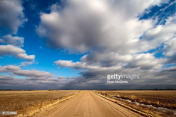 Flat Dirt Road Under Sky