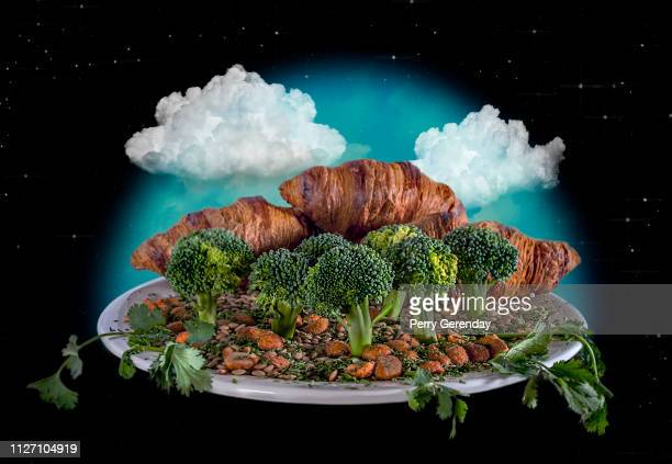 Flat Earth Spoof Landscape on a Plate
