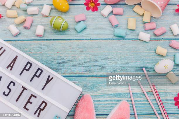flat lat.easter background - easter religious background stock pictures, royalty-free photos & images