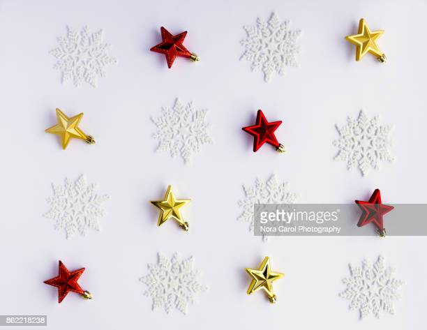 Flat Lay Christmas Background With Ornaments