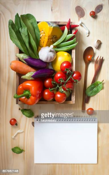 Recipe card template stock photos and pictures getty images flat lay colourful uncooked vegan food still life forumfinder