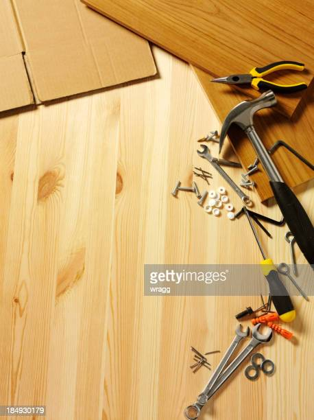Flat Pack auf Holz