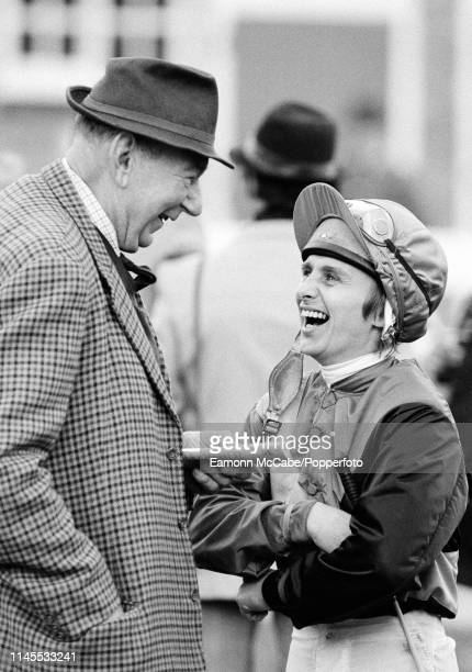 Flat Racing Jockey Willie Carson at Leicester Racecourse in Leicester England circa October 1980