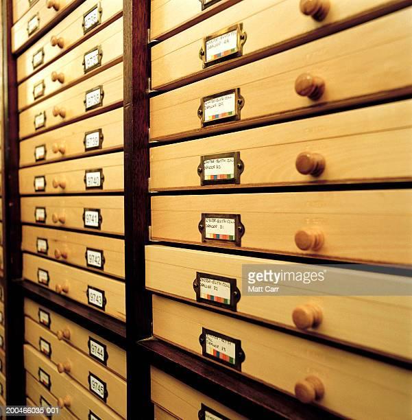Flat specimen file cabinets