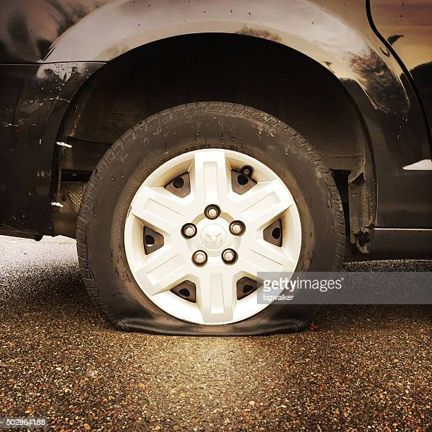 Flat Tire on Dodge Caravan