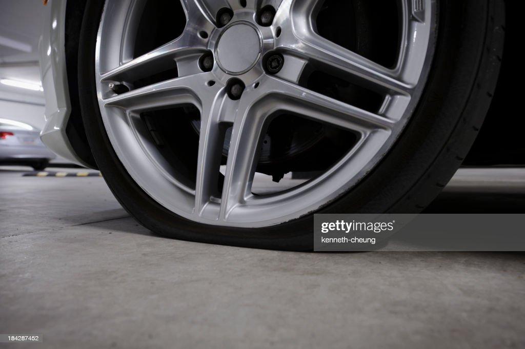 Flat Tire : Stock Photo