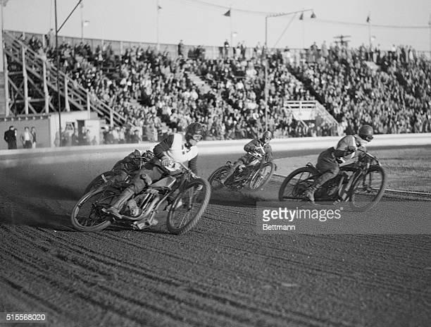 Flat truck motorcycle racing at Compton California