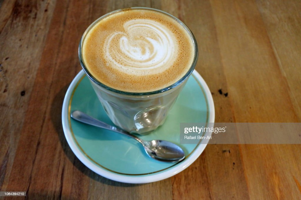 Flat White Coffee : Stock Photo