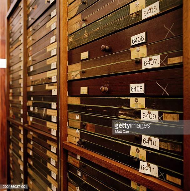 Flat wood specimenl file cabinets