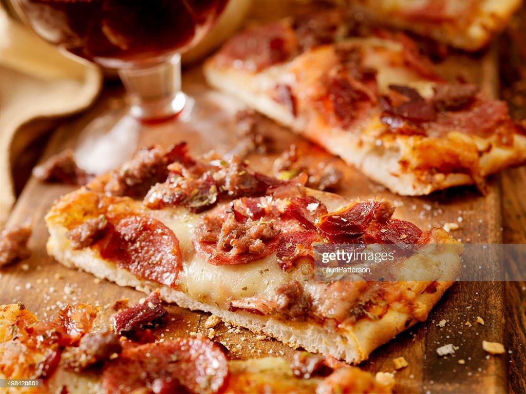Flatbread Pizza : Stock Photo