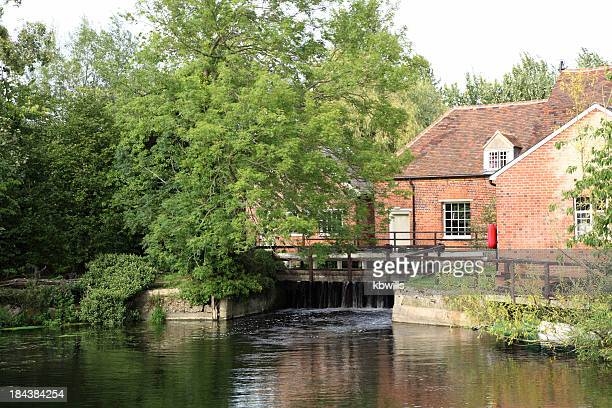 flatford mill and river stour essex england