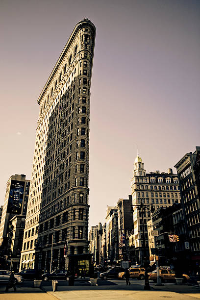 Flatiron building connecting Broadway and 5th Avenue.