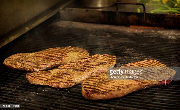 Flatiron/Backyard steak on the grill at Tender Greens in Pasadena Thursday October 03 2013 Choosing a steak used to be easy You had a ribeye strip or...