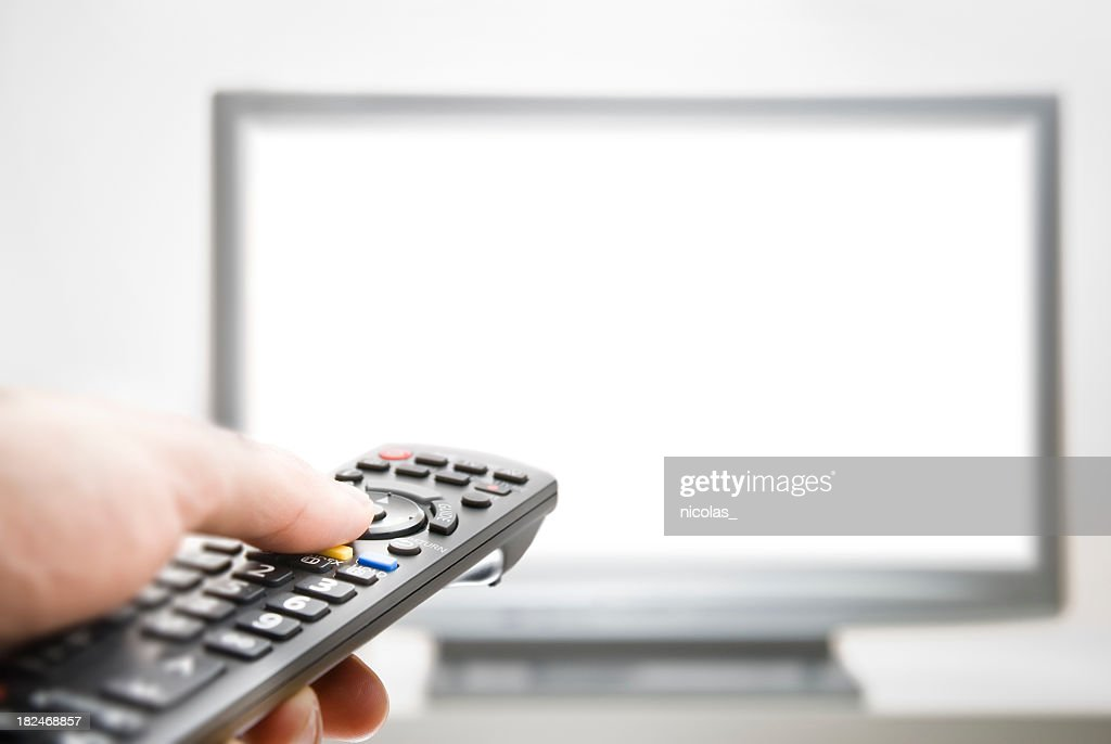 Flatscreen TV : Stock Photo