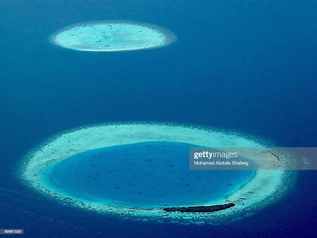 Flattest country - Maldives : Stock Photo