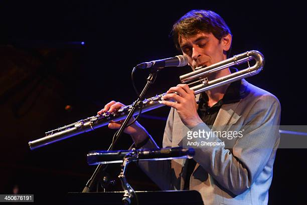 Flautist Gareth Lockrane performs on stage during day 5 of London Jazz Festival 2013 on November 19 2013 in London United Kingdom