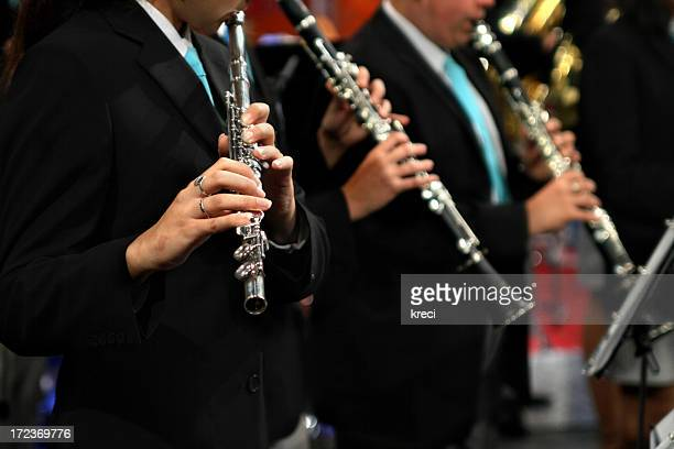flautists - brass stock pictures, royalty-free photos & images