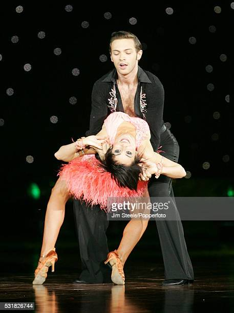 Flavia Cacace and Matt Di Angelo performing on stage during the Strictly Come Dancing Live event at Wembley Arena in London on the 25th January, 2008.
