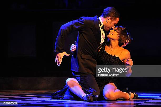 Flavia Cacace and Vincent Simone attend a Photocall for 'Midnight Tango' at Aldwych Theatre on January 30 2012 in London England