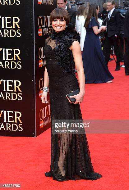 Flavia Cacace attends The Olivier Awards at The Royal Opera House on April 12 2015 in London England