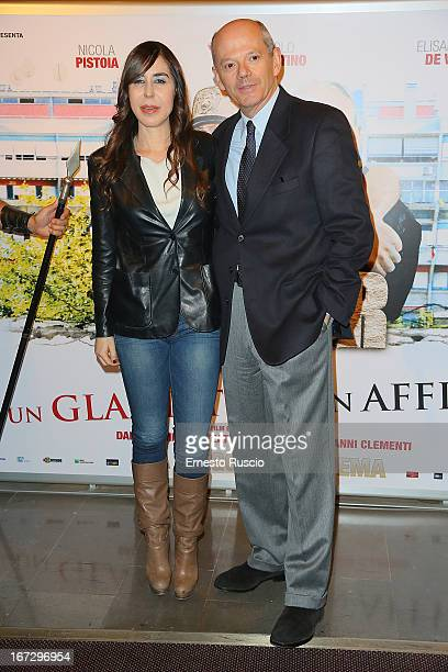 "Flavia Parnasi and Claudio Brancaleoni attend the ""Benur"" premiere at The Space Moderno on April 23, 2013 in Rome, Italy."
