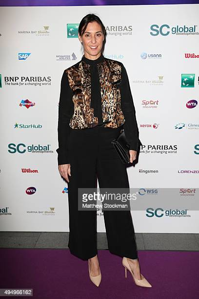 Flavia Pennetta attends Singapore Tennis Evening during BNP Paribas WTA Finals at Marina Bay Sands on October 30 2015 in Singapore