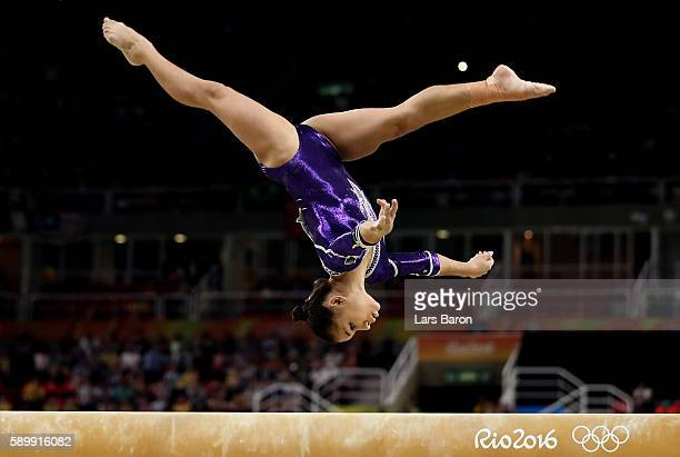 Flavia Saraiva of Brazil competes in the Balance Beam Final on day 10 of the Rio 2016 Olympic Games at Rio Olympic Arena on August 15 2016 in Rio de...