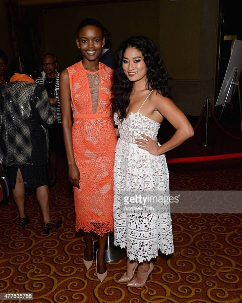 Flaviana Matata and Chloe Flower attend Breaking Barriers The 20th Anniversary of The National Urban Technology Center Gala Awards Dinner at Gotham...