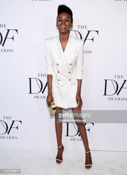 Flaviana Matata attends 10th Annual DVF Awards at Brooklyn Museum on April 11 2019 in New York City