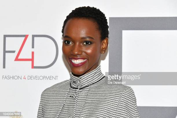 Flaviana Matata attends Fashion 4 Development's 8th Annual Official First Ladies Luncheon at The Pierre Hotel on September 25 2018 in New York City