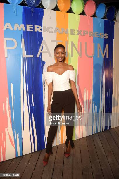 Flaviana Matata attends FOOD MEETS ART hosted by Jose Andres for American Express Platinum Card Members at the SLS South Beach Hotel on December 8...