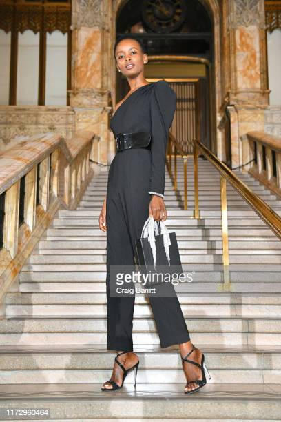 Flaviana Matata attends SelfPortrait Spring Summer 2020 Front Row – New York Fashion Week on September 07 2019 in New York City