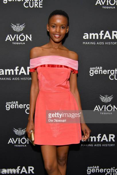 Flaviana Matata attends the amfAR GenCure Solstice 2018 on June 21 2018 in New York City