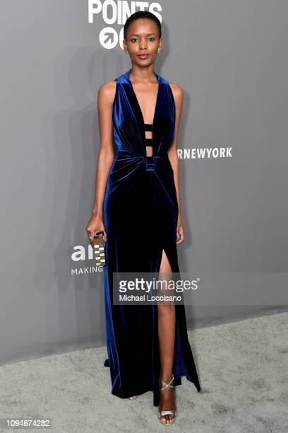 Flaviana Matata attends the amfAR New York Gala 2019 at Cipriani Wall Street on February 6 2019 in New York City