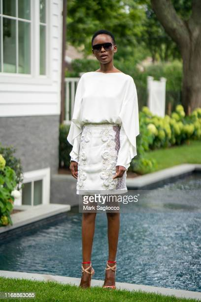 Flaviana Matata attends the Brunch with Burnett New York on August 18 2019 in Sag Harbor New York