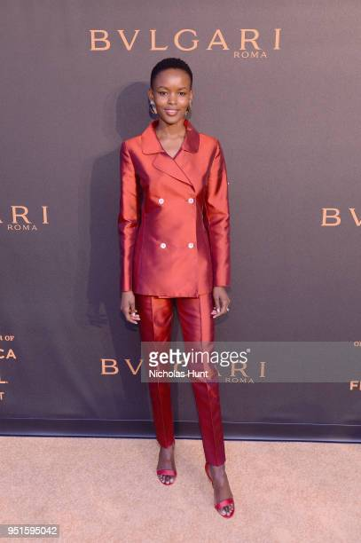 Flaviana Matata attends the BVLGARI world Premiere screening at 2018 Tribeca Film Festival at iPic Theaters on April 26 2018 in New York City