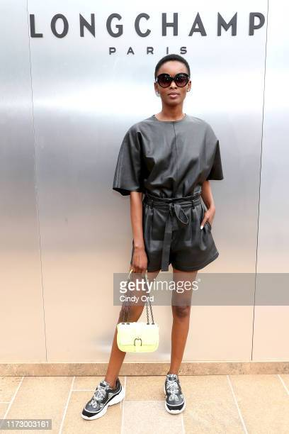 Flaviana Matata attends the Longchamp SS20 Runway Show at Hearst Plaza Lincoln Center on September 07 2019 in New York City