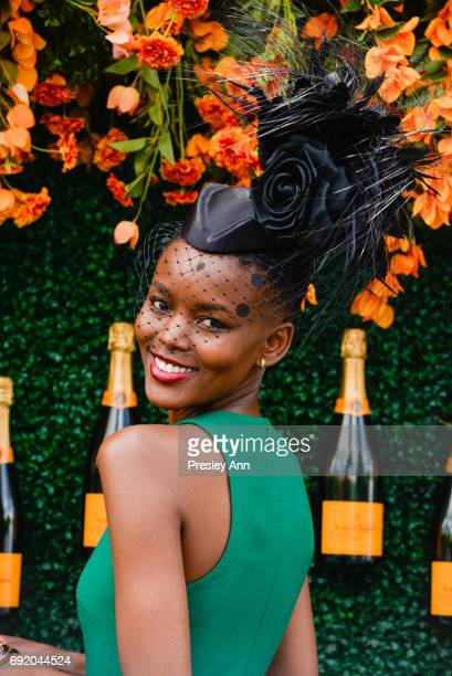 Flaviana Matata attends The Tenth Annual Veuve Clicquot Polo Classic Arrivals at Liberty State Park on June 3 2017 in Jersey City New Jersey