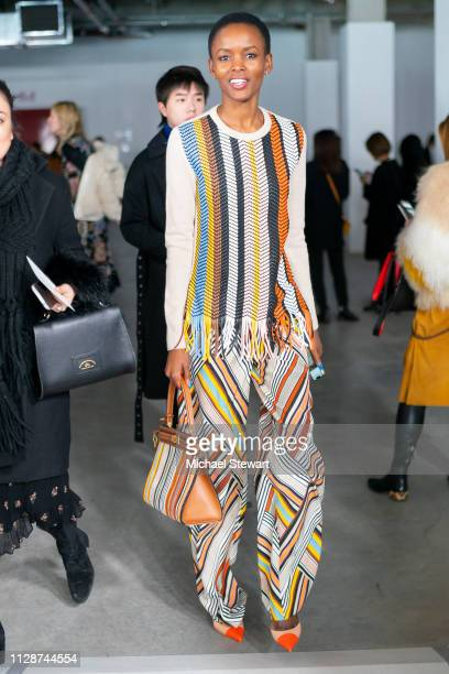Flaviana Matata attends the Tory Burch Fall Winter 2019 Fashion Show at Pier 17 on February 10 2019 in New York City