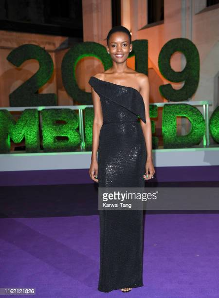Flaviana Matata attends the Wimbledon Champions Dinner at The Guildhall on July 14 2019 in London England