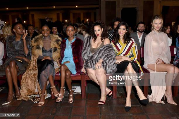 Flaviana Matata Denee Benton Ashleigh Murray Dascha Polanco Laura Gomez and Olivia Jordan attend the Dennis Basso Fall/Winter 2018 Collection Runway...