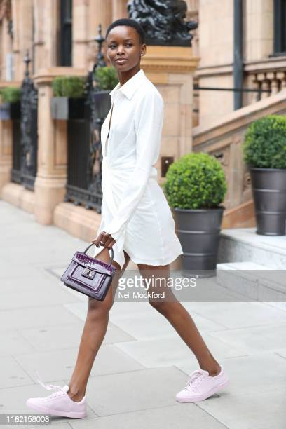 Flaviana Matata seen leaving her hotel on July 15 2019 in London England
