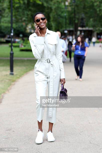 Flaviana Matata seen walking through Russell Square on July 15 2019 in London England