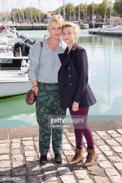 Flavie Flament and Lou Gable attends ' La Consolation' Photocall during the 19th Festival of TV Fiction at La Rochelle on September 15 2017 in La...