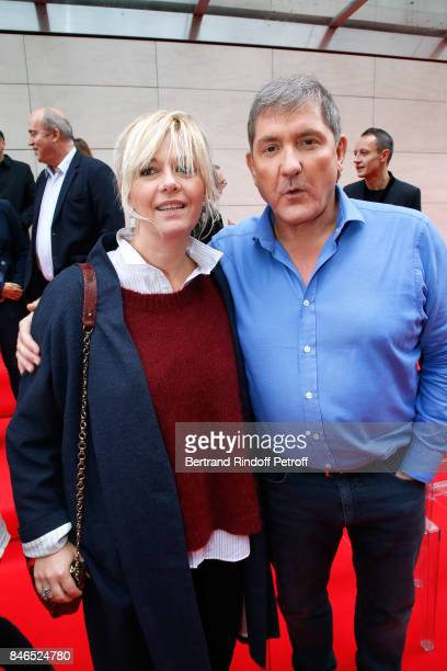 Flavie Flament and Yves Calvi attend the RTL RTL2 Fun Radio Press Conference to announce their TV Schedule for 2017/2018 at Elysee Biarritz at Cinema...