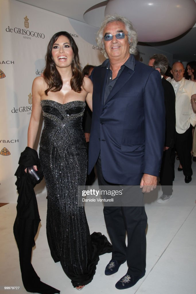 Flavio Briatore (R) and Elisabetta Gregoraci attend the de Grisogono party at the Hotel Du Cap on May 18, 2010 in Cap D'Antibes, France.