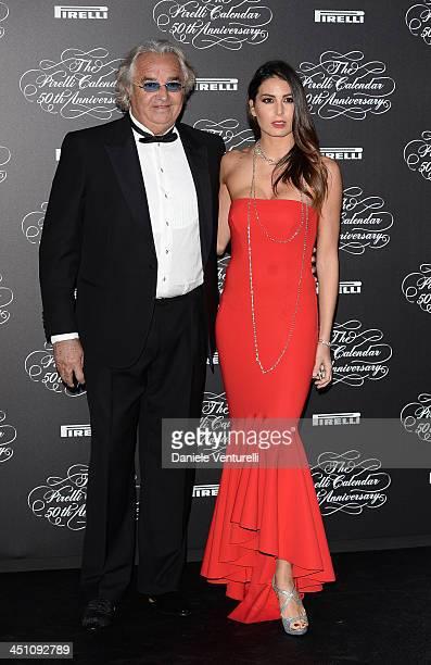 Flavio Briatore and Elisabetta Gregoraci attends the Pirelli Calendar 50th Anniversary event on November 21, 2013 in Milan, Italy.