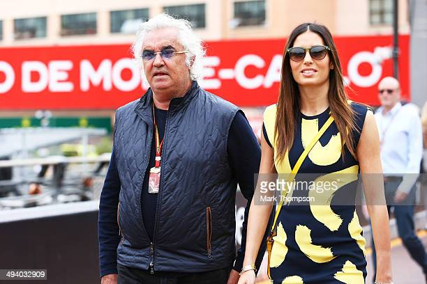 Flavio Briatore and his wife Elisabetta Gregoraci attend the Monaco Formula One Grand Prix at Circuit de Monaco on May 25, 2014 in Monte-Carlo,...