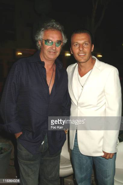 Flavio Briatore and Jean Roch during VIP Room Saint Tropez Belgian Party at VIP Room in Saint Tropez France
