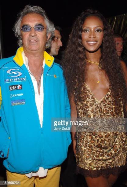 Flavio Briatore and Naomi Campbell during Naomi Campbell's Le Carnival D'Or Party in Aid of The Nelson Mandela Children's Fund Party at Palm Beach in...